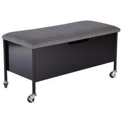 Rge :: ławka ze skrzynią na kółkach sture - czarna - czarny