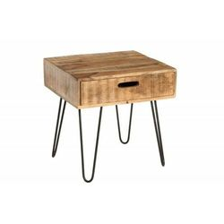 Sofa.pl Invicta stolik scorpion 50 cm mango - drewno naturalne, żelazo