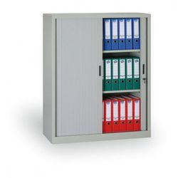 B2b partner Szafa metalowa z żaluzjowymi drzwiami, 1200 x 1200 x 450 mm, jasnoszary