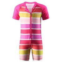 Kombinezon  kąpielowy odessa uv różowy paski marki Reima