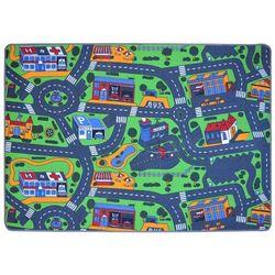 Vidaxl dywanik do zabawy, wzór w uliczki 140x200 cm (8718475513490)