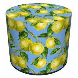 Producent: elior Niebiesko-żółta okrągła pufa dekoracyjna - atola