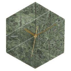 Karlsson:: Zegar ścienny Marble sześciokątny zielony, kolor zielony