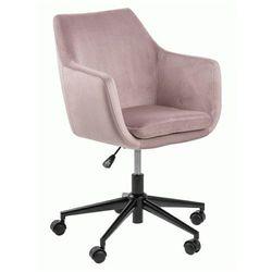 Welurowy fotel obrotowy esteo - różowy marki Producent: elior