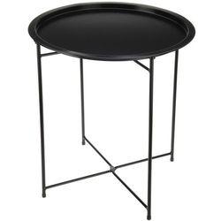 Składany stolik balkonowy, kolor czarny mat - Ø 46 cm, wys. 52 cm (8711295954078)