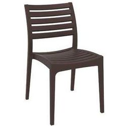 Klasyczne krzesło ogrodowe z polipropylenu Ares Siesta brązowe