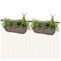 Donice balkonowe prostokątne 50 cm x2 brąz - produkt z kategorii- doniczki i podstawki