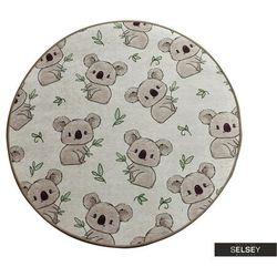 SELSEY Dywan do pokoju dziecięcego Dinkley Koala średnica 100 cm (5903025554525)