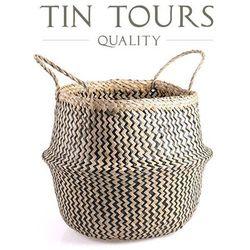 Koszyk z trawy morskiej 30x30x36/48h cm marki Tin tours sp.z o.o.
