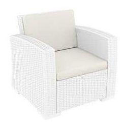 Fotel ogrodowy z technorattanu Monaco Siesta biały