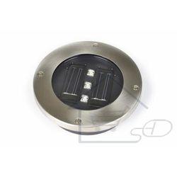 Lampa solarna najazdowa podłogowa 3 LED