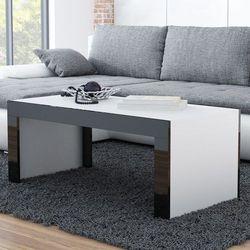 High glossy furniture Stolik kawowy tucson 120 - czarny   biały