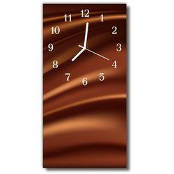 Zegar Szklany Pionowy Sztuka Grafika kształty brązowy, kolor brązowy