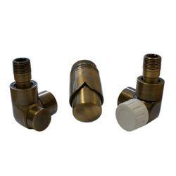 Instal-projekt Grzejnik  603700083 zestawy łazienkowe lux gz ½ x złączka 15x1 stal osiowo prawy antyczny mosiądz