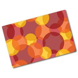 Deska do krojenia szklana Kolorowe kółka