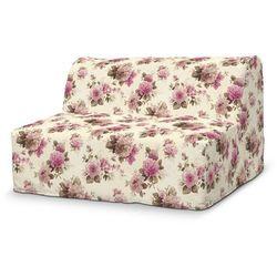 Dekoria Pokrowiec na sofę Lycksele prosty, różowo-beżowe róże na kremowym tle, sofa Lycksele, Mirella
