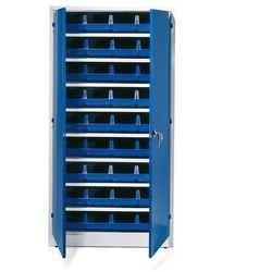 Szafa warsztatowa z pojemnikami, 36 niebieskich pojemników, 1900x1000x400 mm marki Aj produkty