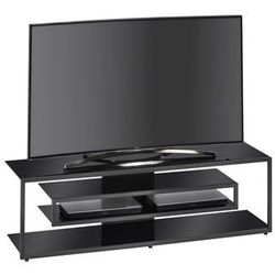 Stolik pod telewizor, 140 cm, czarno-szary, szkło, 16559042 marki Maja-möbel