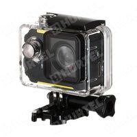 REMAX kamera sportowa rejestrator samochodowy SD-01 Full HD 1080p Wi-Fi + akcesoria źółta - Żółty - spra