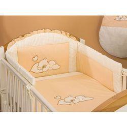 MAMO-TATO pościel 2-el Śpiący miś brzoskwiniowy do łóżeczka 70x140cm z kategorii komplety pościeli dla dzieci