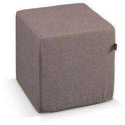 Dekoria  pokrowiec na pufę kostke, szaro-beżowy szenil, kostka 40x40x40 cm, etna