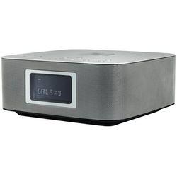 Soundmaster UR411SI, radiobudzik z Qi i BT, srebrny
