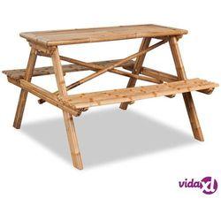 vidaXL Stół piknikowy 120x120x78 cm, bambusowy