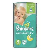 Pampers Pieluszki  active baby-dry rozmiar 5 junior, 64 szt.