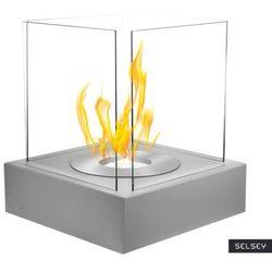 SELSEY Biokominek Cube Szary strukturalny