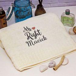 Mr right - ręcznik z haftem - ręcznik marki Mygiftdna