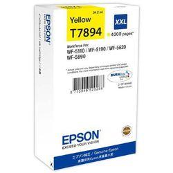 oryginalny ink c13t789440, t789, xxl, yellow, 4000s, 34ml, 1szt, epson workforce pro wf-5620dwf, wf-5110dw, wf