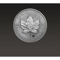 Kanadyjski Liść Klonowy 1 uncja srebra oksydowana