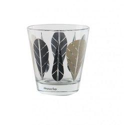 Szklanka 270ml - MUURLA Liście czarne (2szt.)
