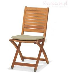 Krzesło składane z poduszką Catalina z kategorii krzesła ogrodowe