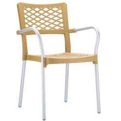 Krzesło ogrodowe do kawiarni i restauracji Bella kolor teak z kategorii Krzesła ogrodowe