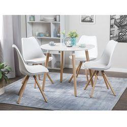 Stół do kuchni biały - 90 cm - stół do jadalni lub salonu - BOVIO (7081455673707)