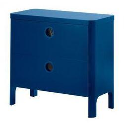 BUSUNGE Komoda, 2 szuflady, średnioniebieski, kup u jednego z partnerów