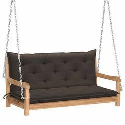 Drewniana huśtawka z poduszką taupe - paloma 2x marki Elior