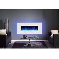 Kominek ścienny Radiance Glass 80W ze szklaną przednią szybą w kolorze białym wersja LED - SUPER OFERTA, RADIANCE GLASS 80W Z RAMKą W KOLORZE BIAŁYM