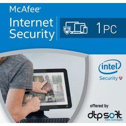 McAfee Internet Security 2017 1 PC licencja na rok - sprawdź w wybranym sklepie