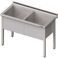 Stalgast Stół z basenem dwukomorowym 1500x600x850 mm | , 981386150