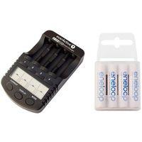 ładowarka everActive NC-1000 PLUS + 4 x R03/AAA Panasonic Eneloop 800 (box) (ładowarka do akumulatorków)