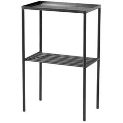 Bloomingville Prostokątny metalowy stolik podręczny, czarny -  (5711173147168)