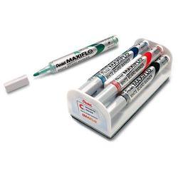 Marker suchościeralny  mwl5s - zestaw 4 kol. + ścierak od producenta Pentel