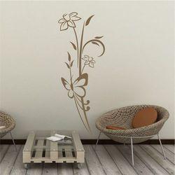 Wally - piękno dekoracji Szablon na ścianę kwiaty motyl 2090