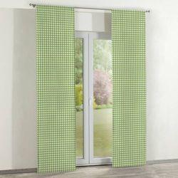 Dekoria zasłony panelowe 2 szt., zielono biała kratka (1,5x1,5cm), 60 × 260 cm, quadro