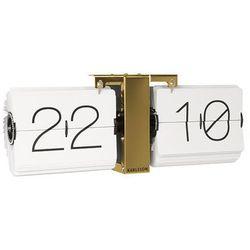 Karlsson:: Zegar ścienny Flip Clock złoty - złoty ||biały