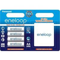 Panasonic 4 x akumulatorki  eneloop r6 aa 2000mah bk-3mccec4be (blister + box)