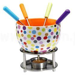 Czekoladowe fondue, zestaw - kolorowe kropki,  marki Mastrad