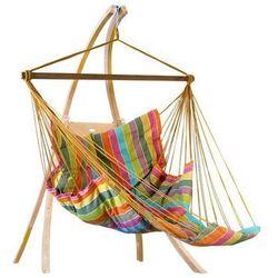 Zestaw hamakowy: fotel pikowany comfy ze stojakiem drewnianym atlas, afrika fotel comfy+stojak atlas marki La siesta